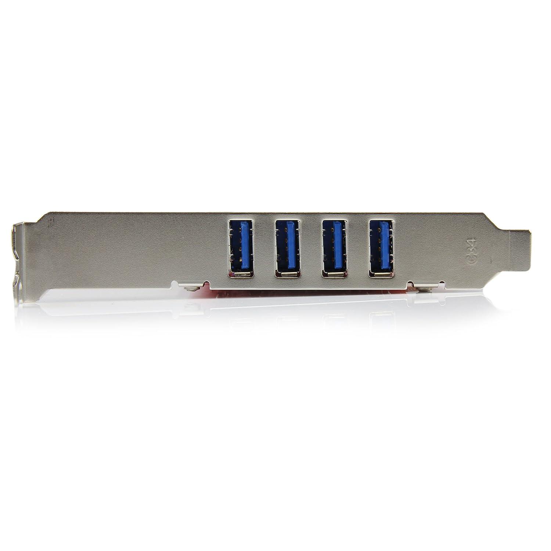 PCIe SuperSpeed Schnittstellenkarte StarTech.com 4 Port USB 3.0 PCI Express-Karte 2 Externe und 2 Interne mit SATA Power