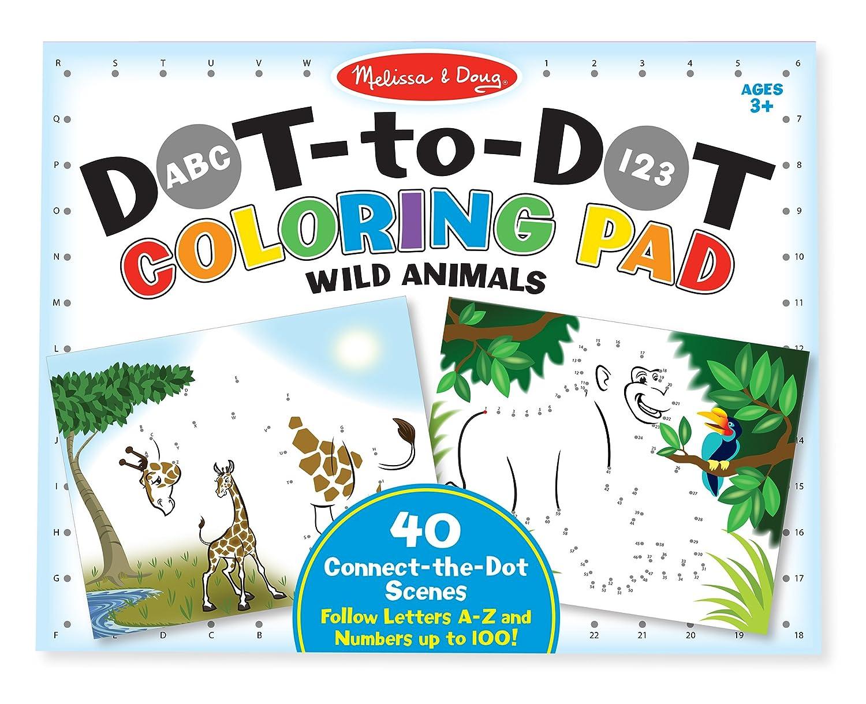 Melissa & Doug Bloc gigante con dibujos, Dot to Dot Colouring Pad ...
