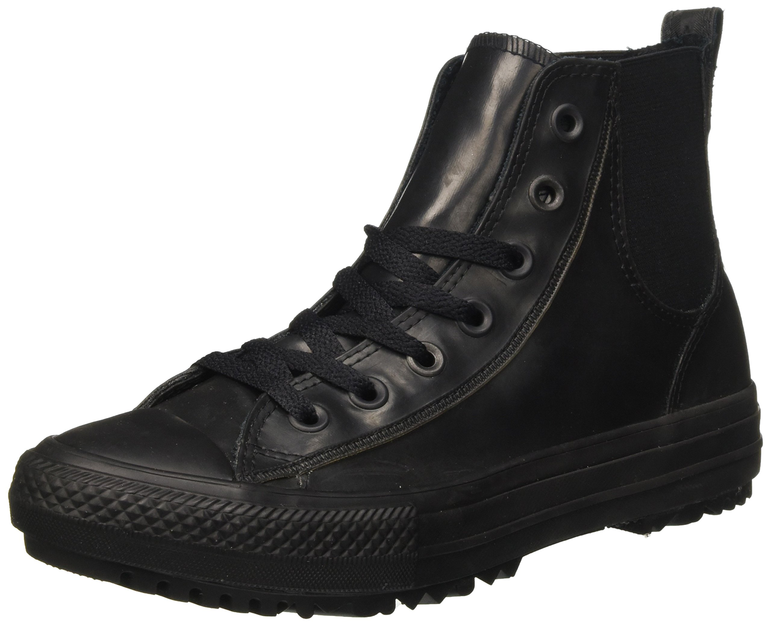 Converse Women's Chuck Taylor All Star Rubber Chelsee Boot (6, Black)