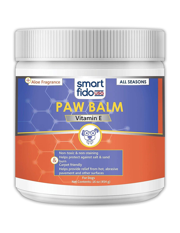 Amazon.com: SmartFido Vitamina E 16 oz Paw Balm para Perros ...