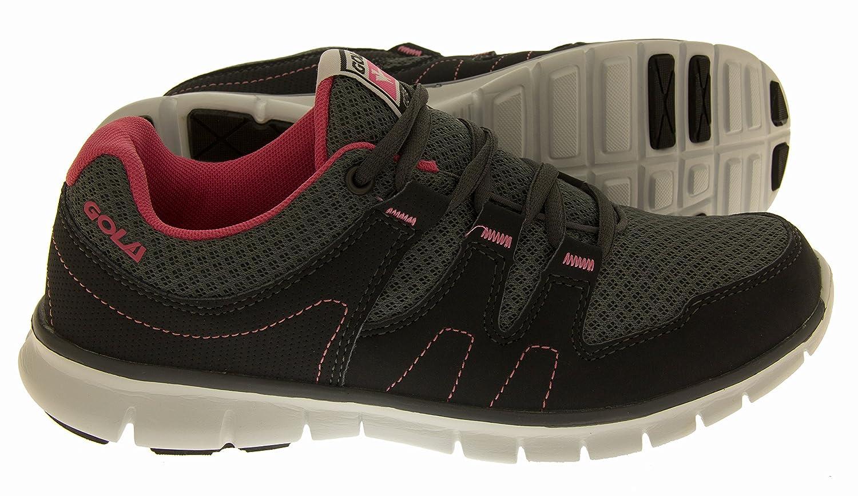 quality design 4a881 fbcb2 Womens Gola Chaussures d entraînement de Fitness Actif Appartements  D exercice Décontracté Baskets de Running - - Charcoal Grey Pink,   Amazon.fr  Chaussures ...