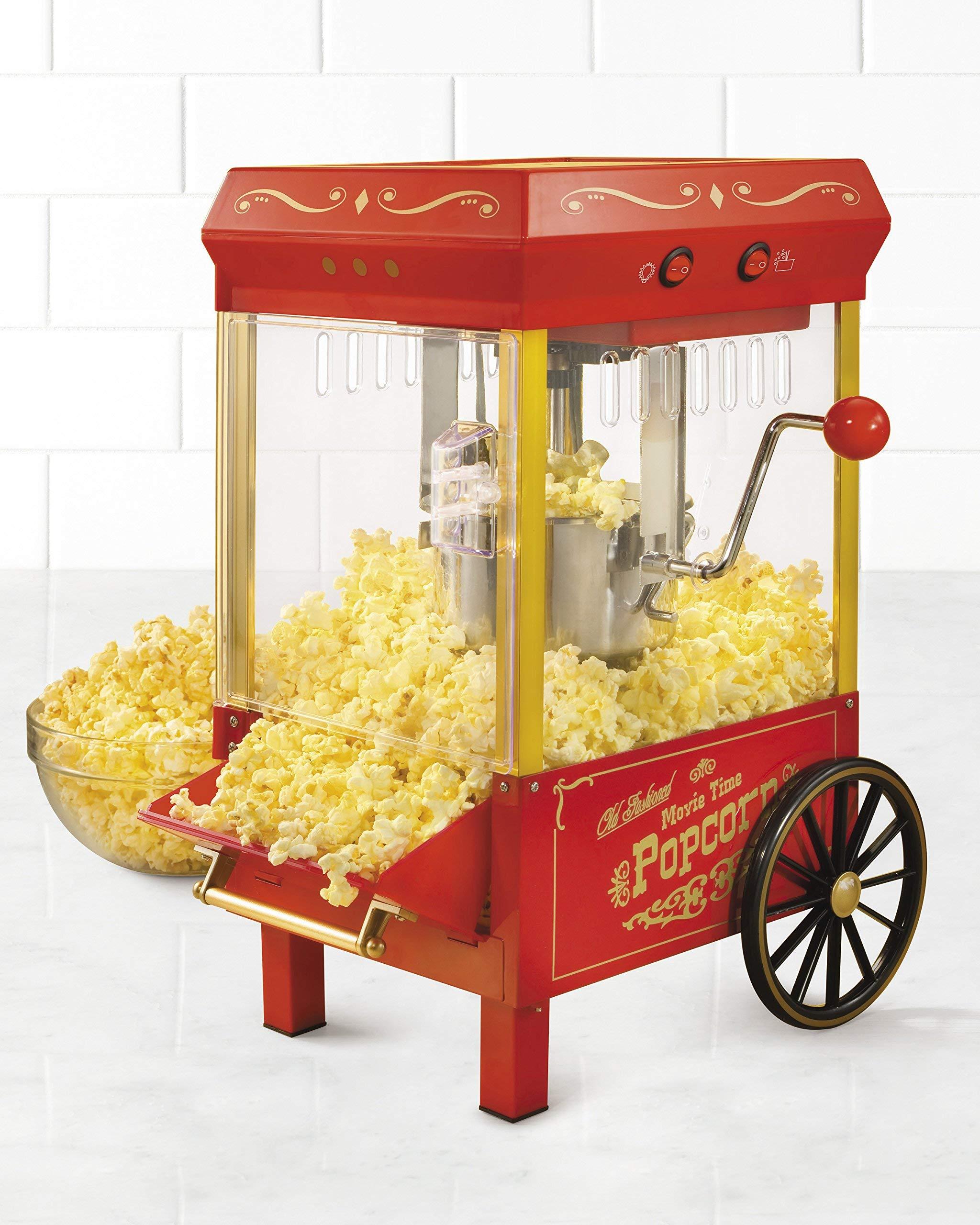 Nostalgia KPM508 Vintage 2.5-Ounce Kettle Popcorn Maker (Renewed)