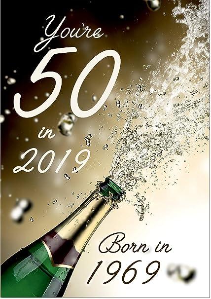 Biglietto Di Auguri Per Compleanno 50 Anni Misura Standard
