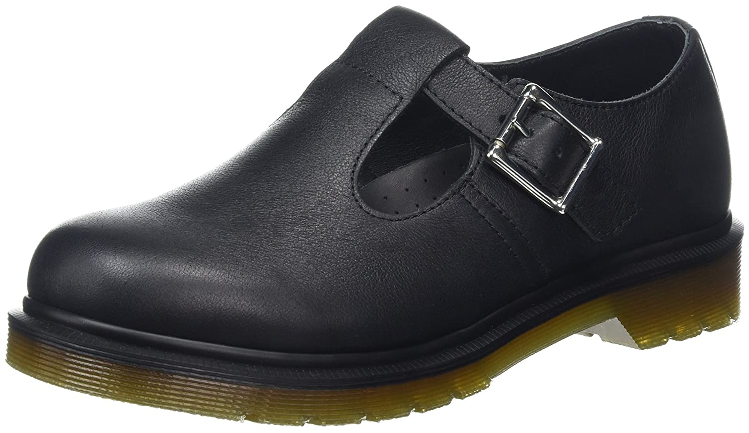 Dr. Martens Women's Polley Plain Welt T-Bar Leather Mary Janes B01MY3DB2J 6 M UK / 8 B(M) US|Black