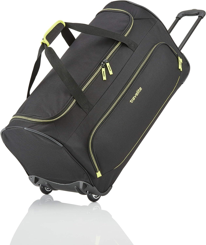 Travelite Basics Trolley Reisetasche Fresh auf Rollen 70cm, in sechs Farben Bolso de Viaje 71 Centimeters 89 Negro (Schwarz)