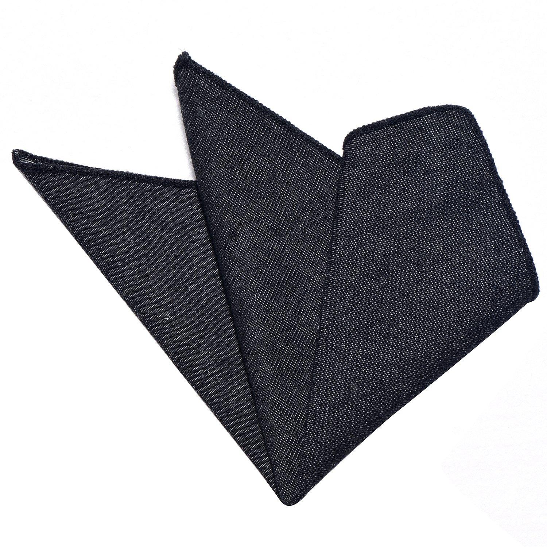 DonDon fazzoletto da taschino di cotone in Jeans Look 23 x 23 cm per uomo regolabile Hanky174