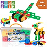 USA Toyz STEM Toys Building Blocks – 101pk BOLTZ Educational Toys for Construction or Engineering, Magnetic STEM Set for Boys, Girls, Toddlers or Kids