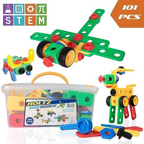 Amazon Com Usa Toyz Stem Building Toys For Kids 101pk Boltz
