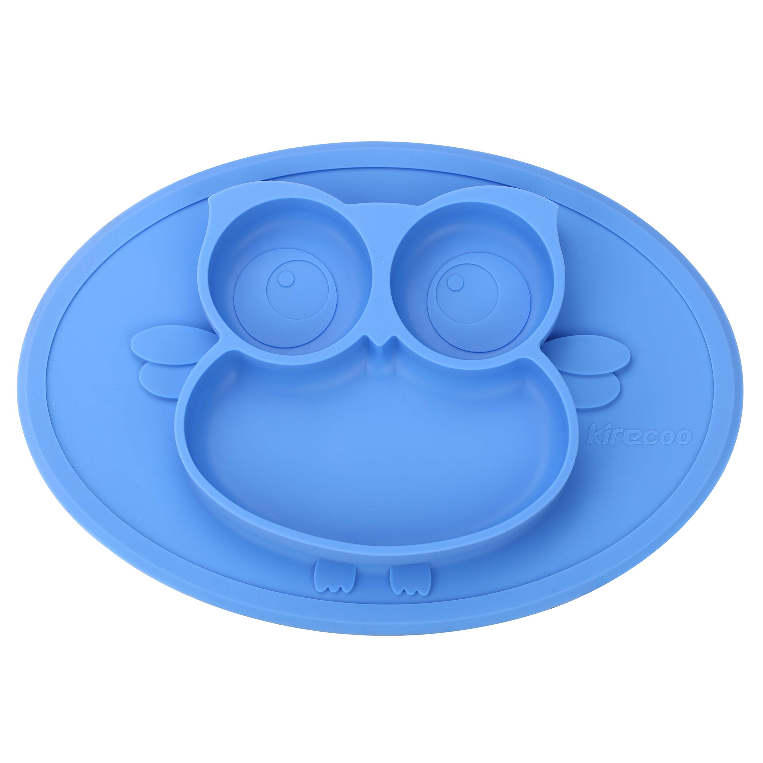 Amazon.com : Kirecoo Baby Placemat Owl Round Silicone Suction ...