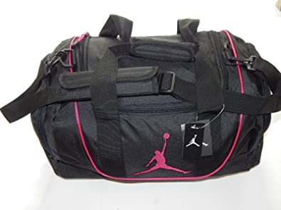 2c855af4a9 Nike Air Jordan Duffel Sac de Sport Basketball Tote Noir Rose Tote Sac de  Voyage