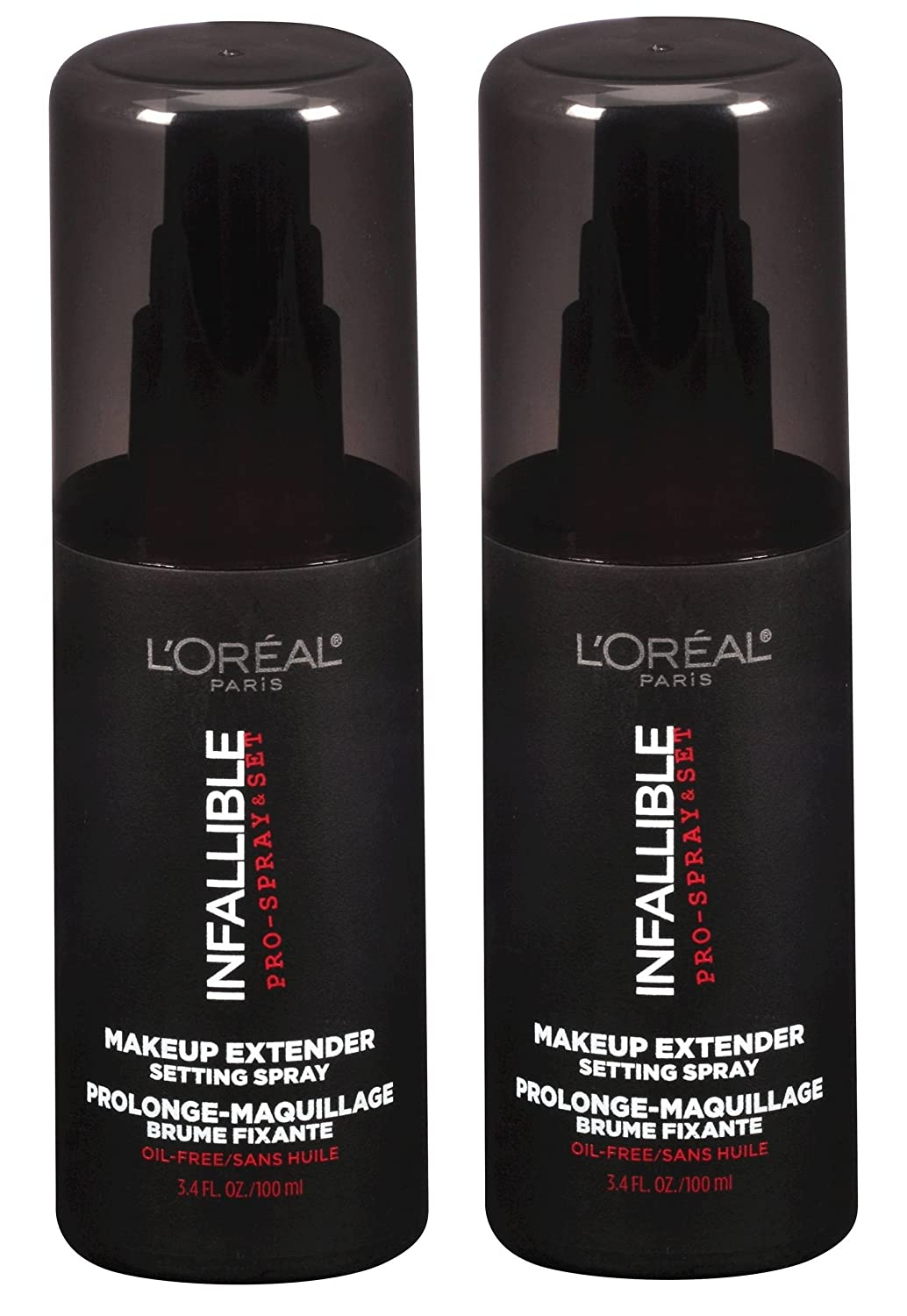 L'oreal Paris Cosmetics Infallible Pro-spray and Makeup Extender, Setting Spray, 3.4 Fluid Ounce Pack of 2 L' Oreal Paris