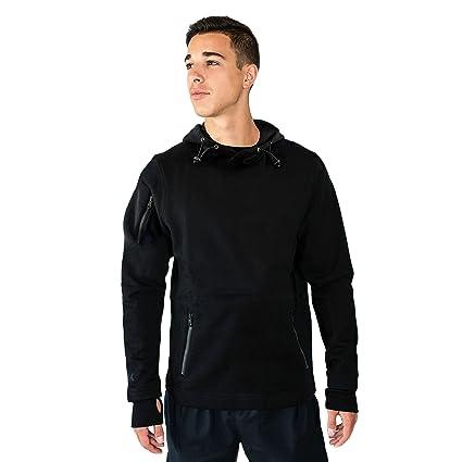 Woolx Men s Merino Wool Hoodie - Wool Pull Over Sweatshirt - Black - 2XL 03984eda4