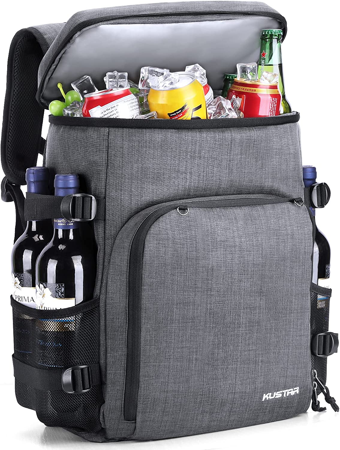 Cooler Backpack 35 Cans,Insulated Leak-Proof Cooler Bag Large Capacity for Lunch Bag Camping,Picnic,Hiking,Fishing,Kayaking,Sports & Beach