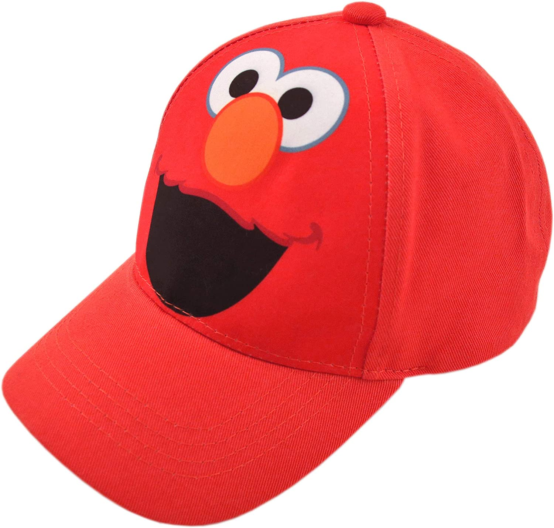 Sesame Street Toddler Boys' Elmo Cotton Baseball Cap, Light Red, Age 2-4: Clothing