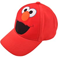 Sesame Street - Gorra de béisbol de algodón para niños, diseño de Elmo Character, color rojo claro, de 2 a 4 años