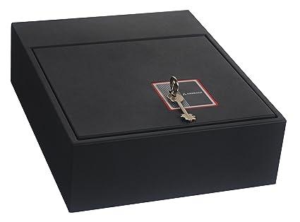 Arregui 20000-S7K- Caja fuerte camuflada para zócalo de armario, color negro