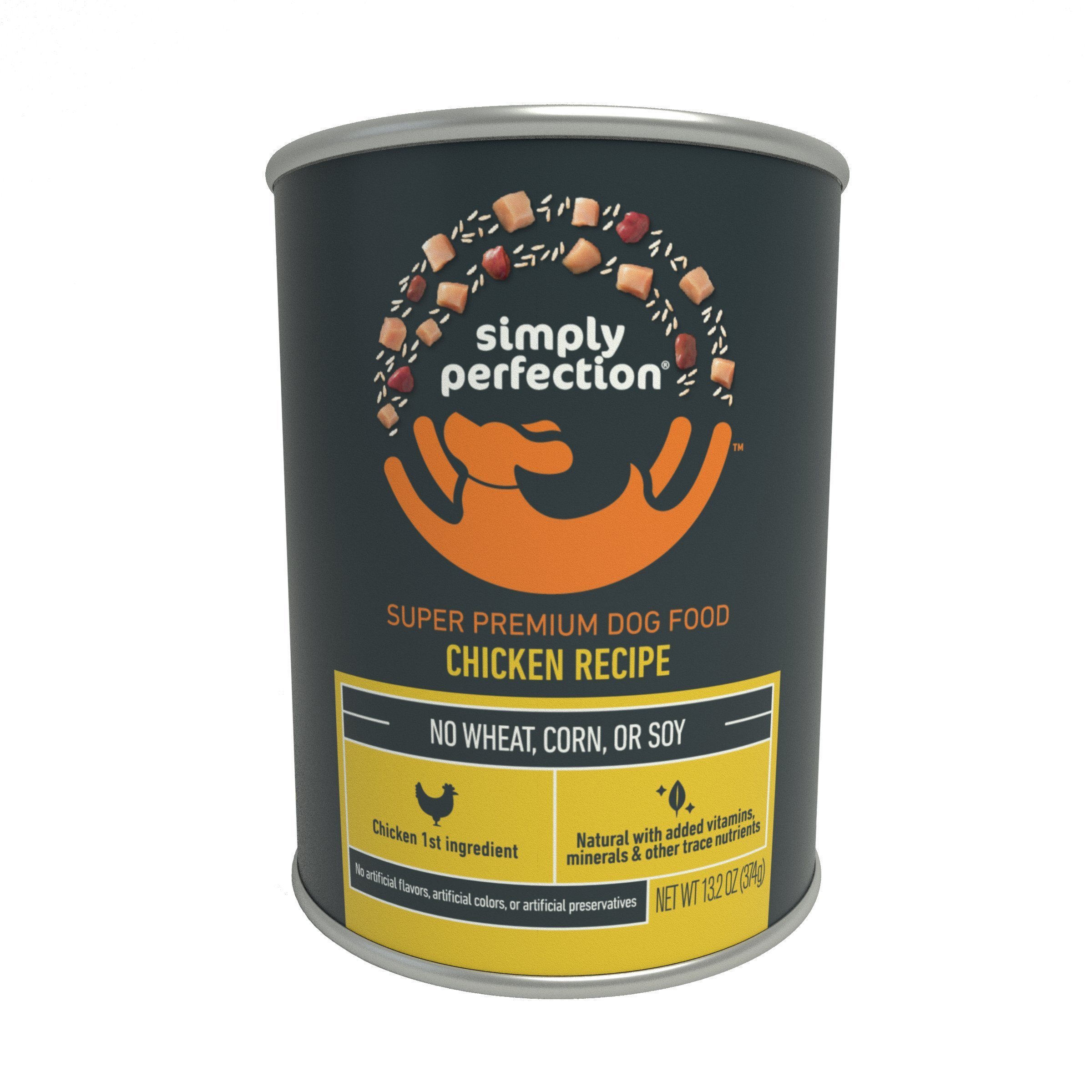 Simply Perfection Super Premium Chicken Recipe Canned Dog Food 79.2oz Case, 6 cans