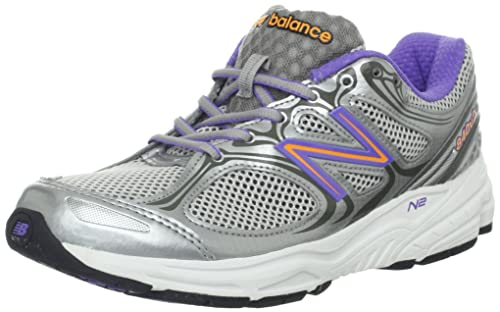 New Balance Women s W840v2 Running Shoe,Silver Purple,7 B US