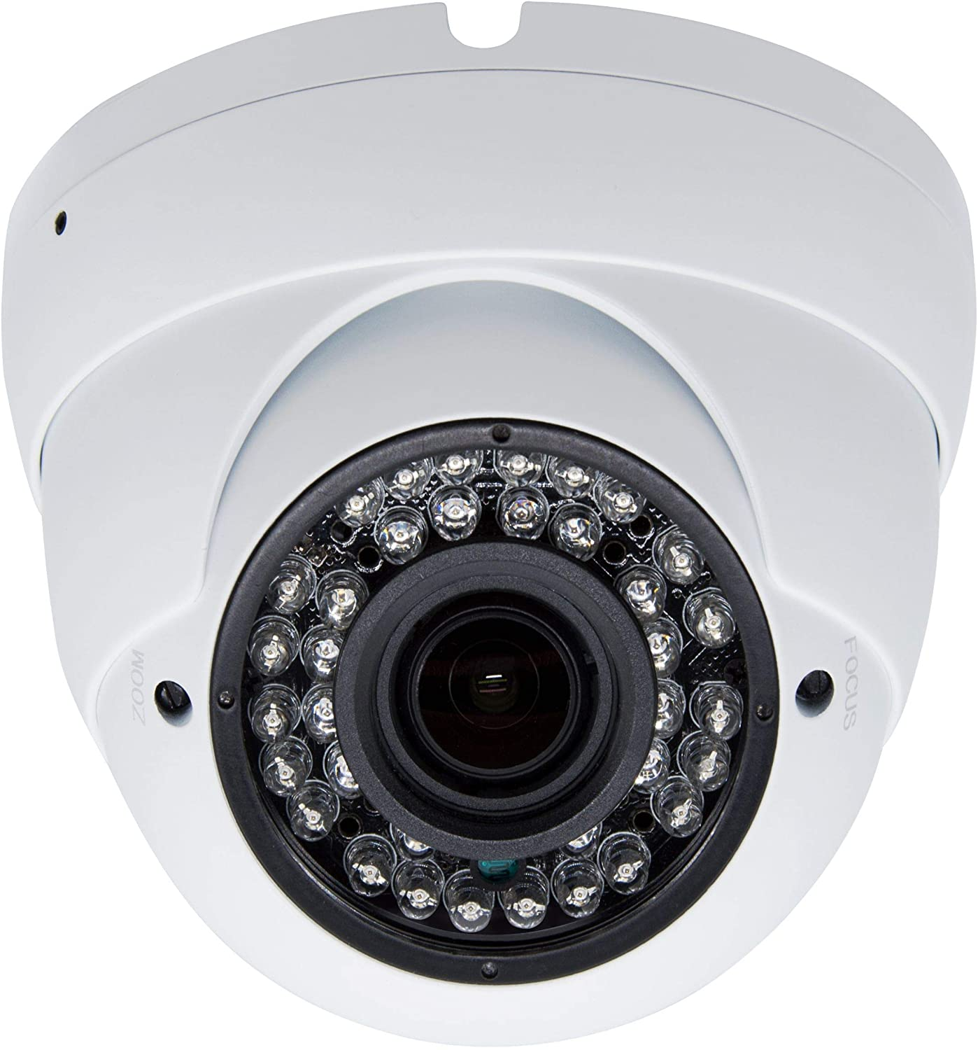 5MP 4MP Dome Super Hybrid Security Camera Vonnision 4in1 TVI/CVI/AHD/960H CCTV Surveillance Security Camera 2.8-12mm Varifocal Lens Waterproof Day&Night Vision Outdoor/Indoor 98ft IR Camera White