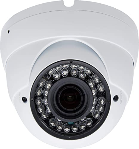 Inwerang 2MP HD 1080p CCTV Dome Security Camera,TVI AHD CVI 960H CVBS 4in1 Outdoor Indoor 2.8mm-12mm Varifocal Lens 100ft Infrared Distance, IP66 Water-Proof Day Night Vision CCTV Security Camera