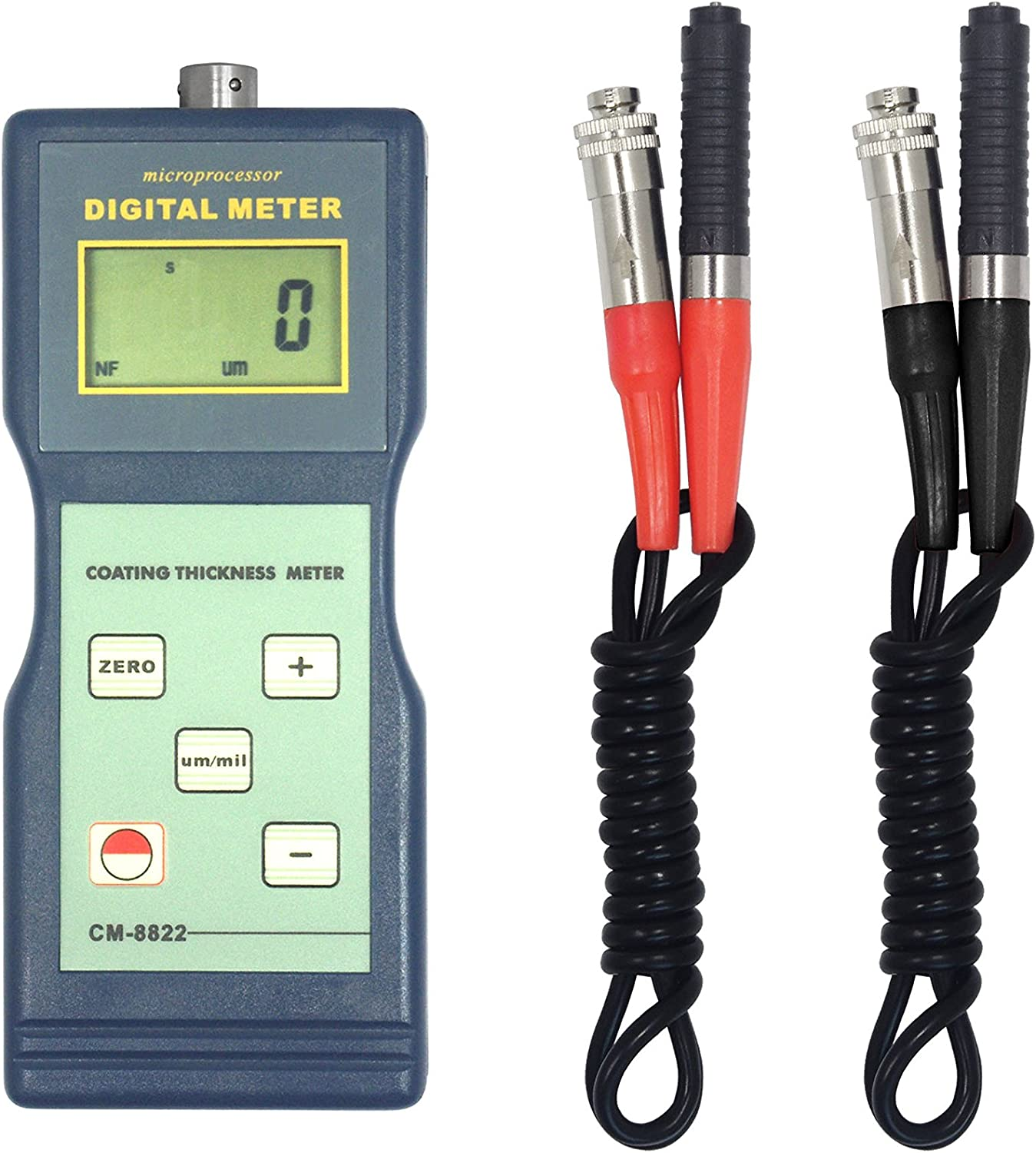 Digital Coating Thickness Tester Gauge with F Probe Thickness Measuring 0~1000μm