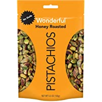 Wonderful Pistachios, No Shells, Honey Roasted, 5.5 Ounce Resealable Pouch