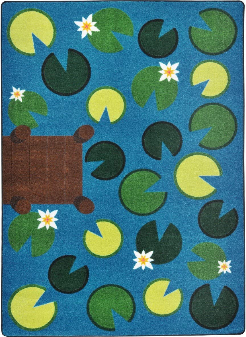 Joy Carpets Kid Essentials Early Childhood Playful Pond Rug, Multicolored, 5 4 x 7 8