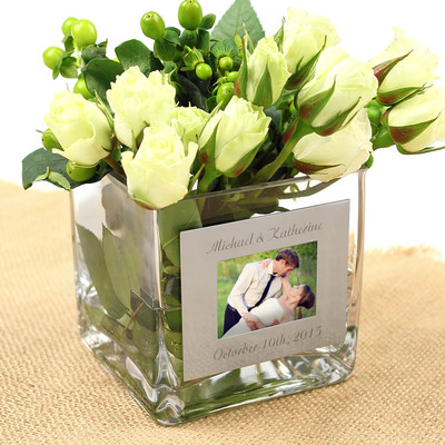 Charlton Home Wedding Vase with Photo Frame & Reviews | Wayfair