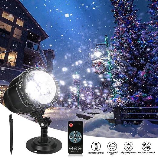 Powcan Proyector Navidad LED, Luces de Navidad con Control Remoto ...