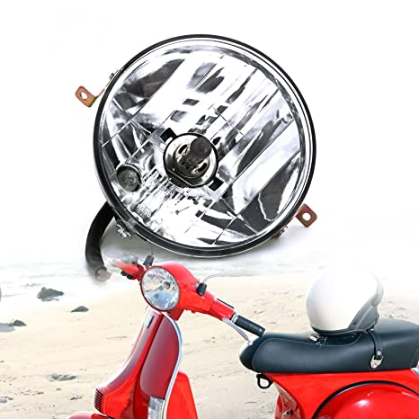 Motorcycle Headlight Assembly Round Clear Head Lamp for Vespa PX PE 125 150  200 LML Star Stella Star 4S VINTAGE EVOLUTION 4S EVOLUTION 2S LML STAR 4S