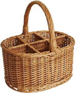 Wald Imports Brown Willow Wine/Beverage Storage Basket