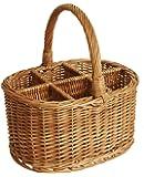 Wald Imports Brown Willow  Wine/Beverage Storage Basket