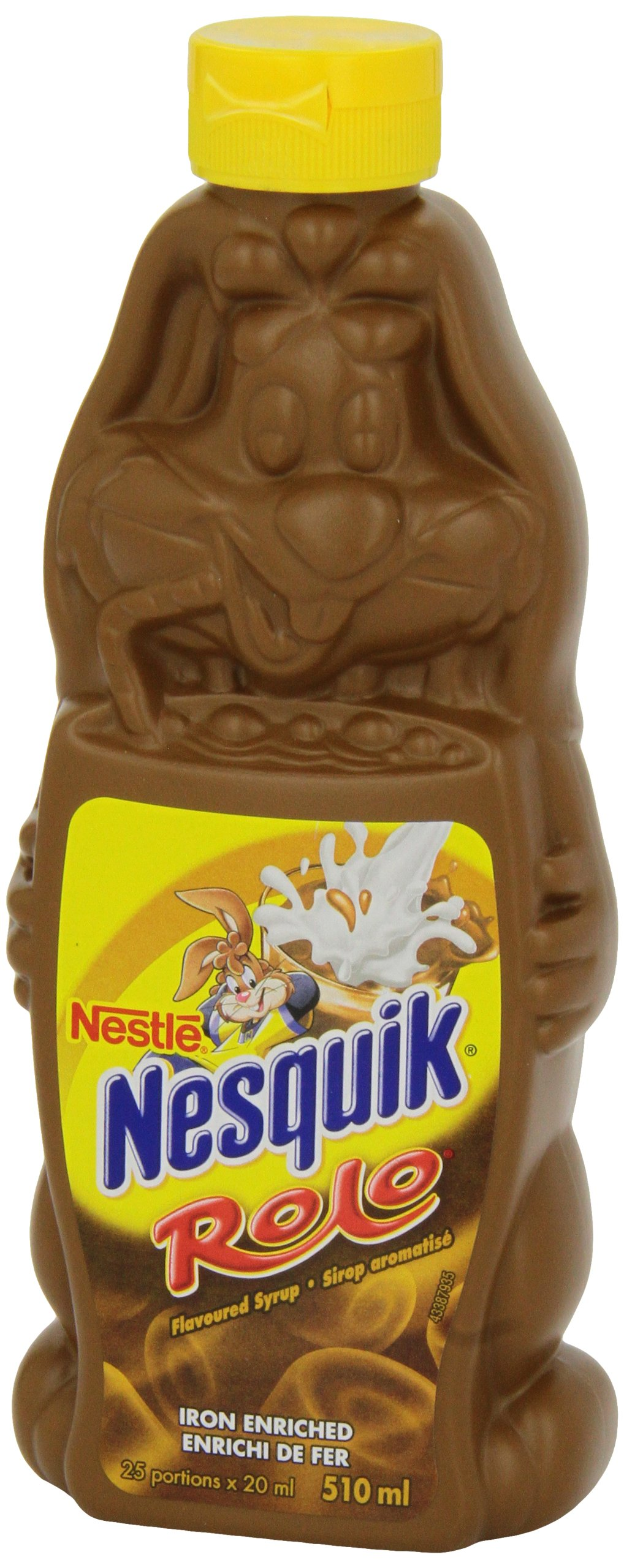 Nestle Nesquik Rolo Flavored Syrup Mix 510ml, 17.9 Oz, Made in Canada by Nesquick