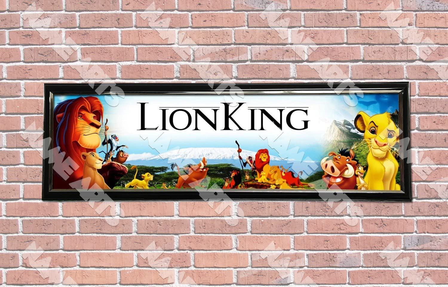 Personalized Customized The Lion Guard Name Banner Wall Decor Poster with Frame