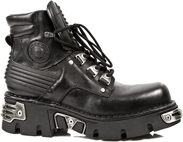 Newrock New Rock M.924 S1 Metallic Mens Black Gothic Boot