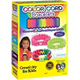 Creativity for Kids Color Cord Bracelets – Teaches Beneficial Skills – Comes with Scissors and Glue – Colored Bracelets for any Mood – Ages 7 and Up