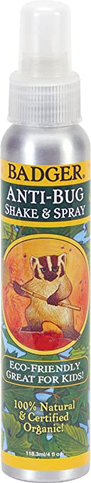 Badger - Anti-Bug Repellent Spray - 100% Natural and Certified Organic - 4 oz Aluminum Bottle