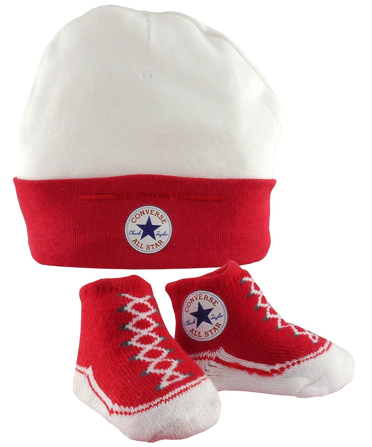 Converse Baby Hat   Booties Socks - Red  Amazon.co.uk  Clothing 3183b549676d