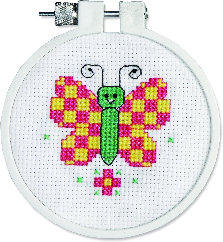 Farfalla Mini Check contato Punto Croce Kit-3Rotondo Conte 14
