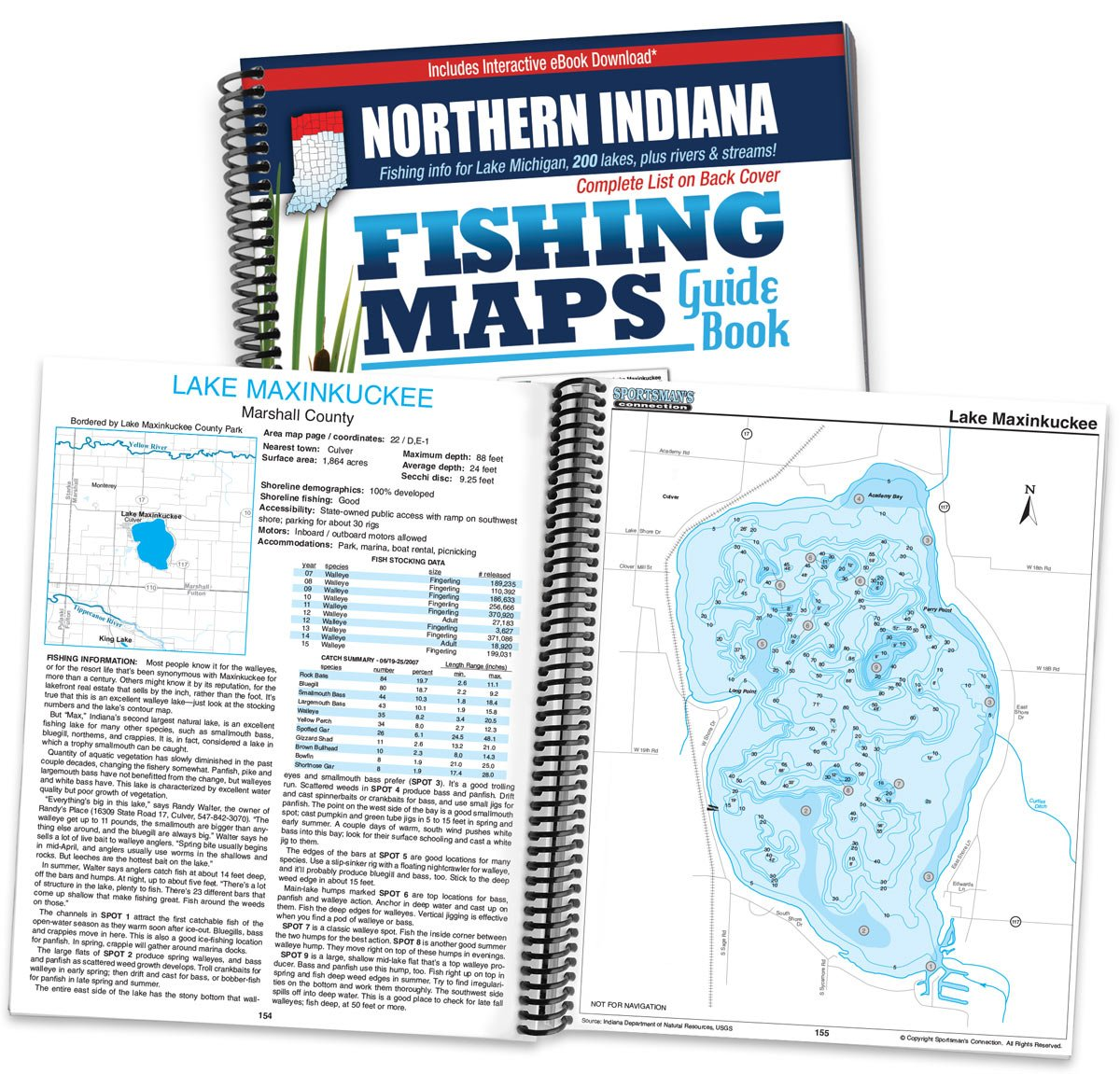 Northern Indiana Fishing Map Guide: Sportsman\'s Connection ...