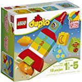 LEGO DUPLO My First Rocket 10815, Preschool, Pre-Kindergarten Large Building Block Toys for Toddlers