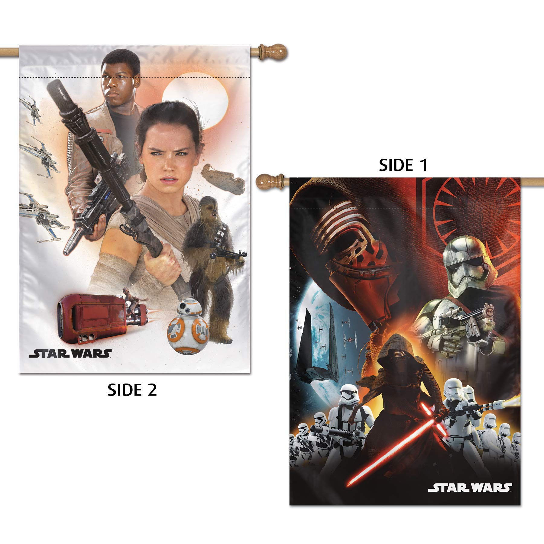 WinCraft Star Wars Star Wars Star Wars/New Trilogy Force Awakens 28'' x 40'' Vertical Flag 2 SidedWinCraft Star Wars/New Trilogy Force Awakens 28'' x 40'' Vertical Flag 2 Sided, Multicolor, NA by WinCraft