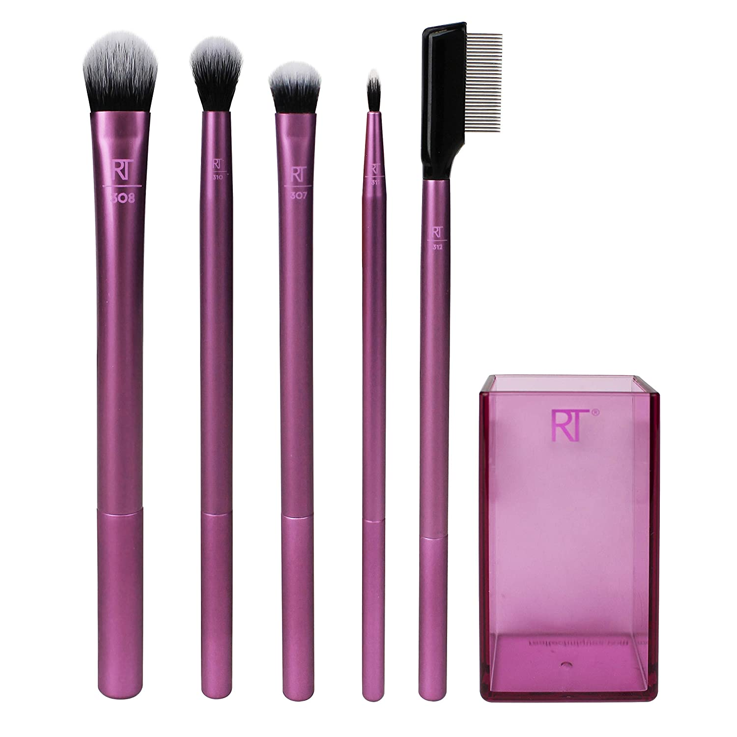Real Techniques Enhanced Eye Set Eyeshadow & Eyeliner Makeup Brush Kit for Every Look