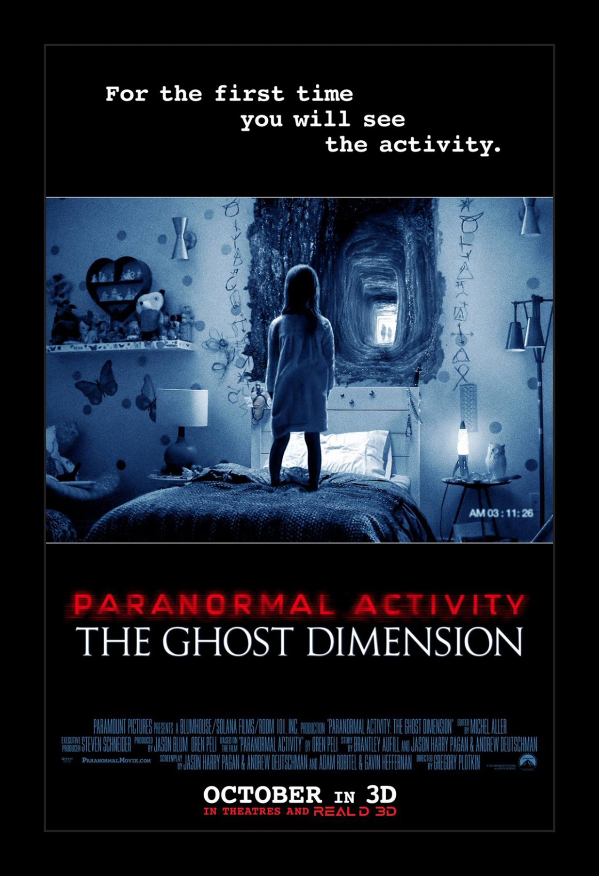 Paranormal Activity the Ghost Dimension - 11x17 Framed Movie Poster by Wallspace