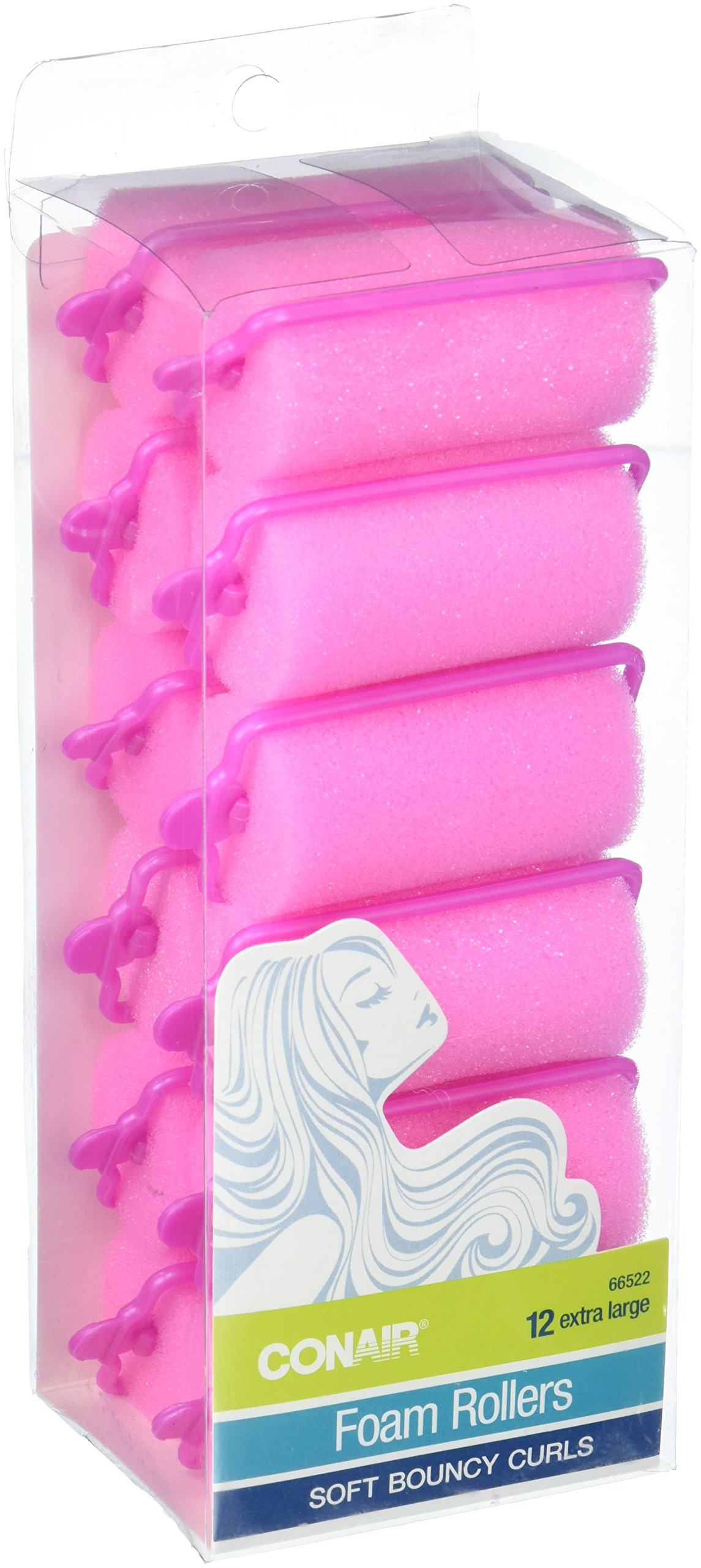Conair Body and Bounce Extra Large Foam Rollers, 12 Count