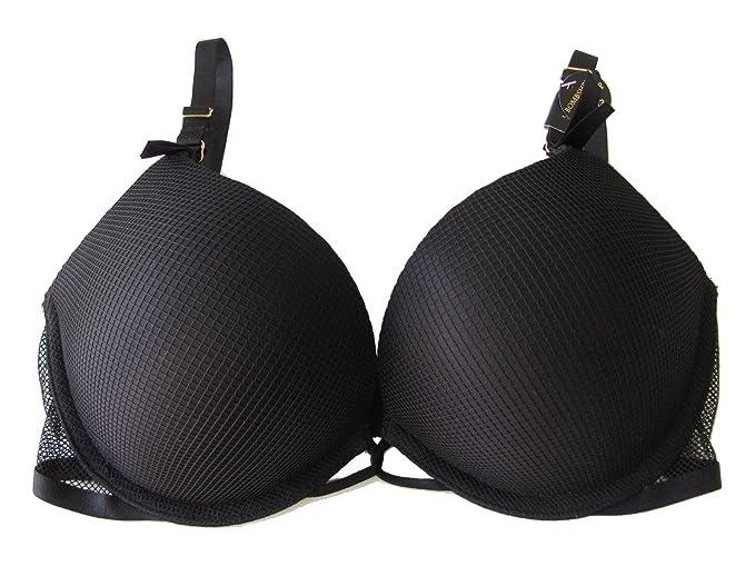 Victoria s Secret Negro Rejilla kimberling sujetador añade 2 tazas