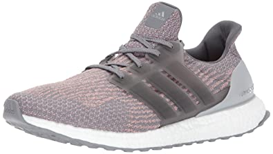 adidas Originals Men's Ultraboost Running Shoe, Grey Four/Grey Four/Trace  Pink,