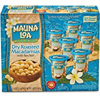 Mauna Loa Dry Roasted Macadamia Nuts with Sea Salt Box Set - 4 oz cans, Pack of 6