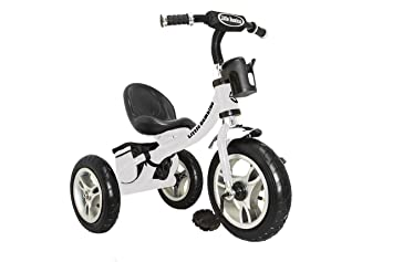 099774e0a77 Little Bambino RideOn Pedal Tricycle Children Kids Smart Design 3 Wheeler    White   CE Approved