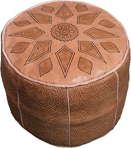 Moroccan Poofs 100 Leather Handmade Hand Carved Traditional Footstool Pouf Tribal Berber Ottoman Unique Design